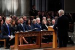 Photos of Trump, Obama, Clinton And Their Wives At The Memorial Service of George H.W. Bush [Photos]