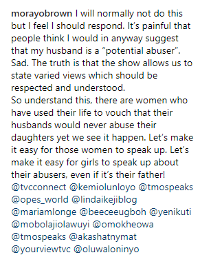 """""""My husband is not a pedophile"""" TVC host clears the air on her controversial statement that she can"""