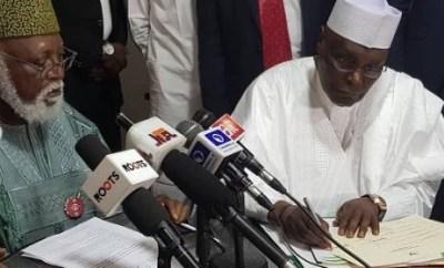 Photos: Finally,?Atiku, Ezekwesili sign the peace accord
