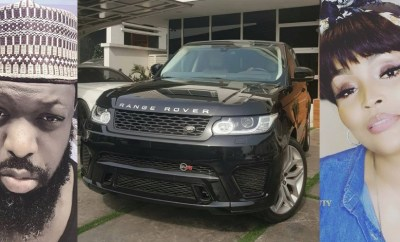 Photos: Singer Timaya gifts his second babymama, Tama, a Range Rover for christmas