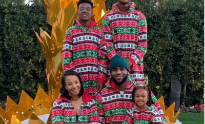 NBA star Lebron James shares beautiful family photo