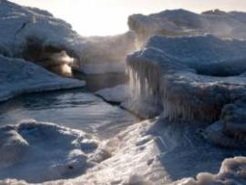 A view of Lake Michigan on January 30, 2019 in Kenosha, Wisconsin