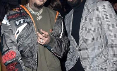 Chris Brown pictured at Drake