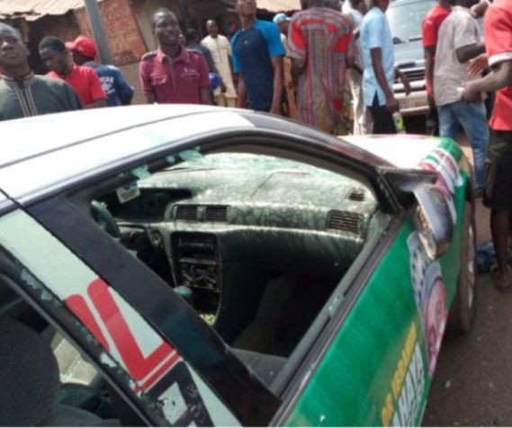 Photos: Thugs attack APC governorship rally in Ilorin