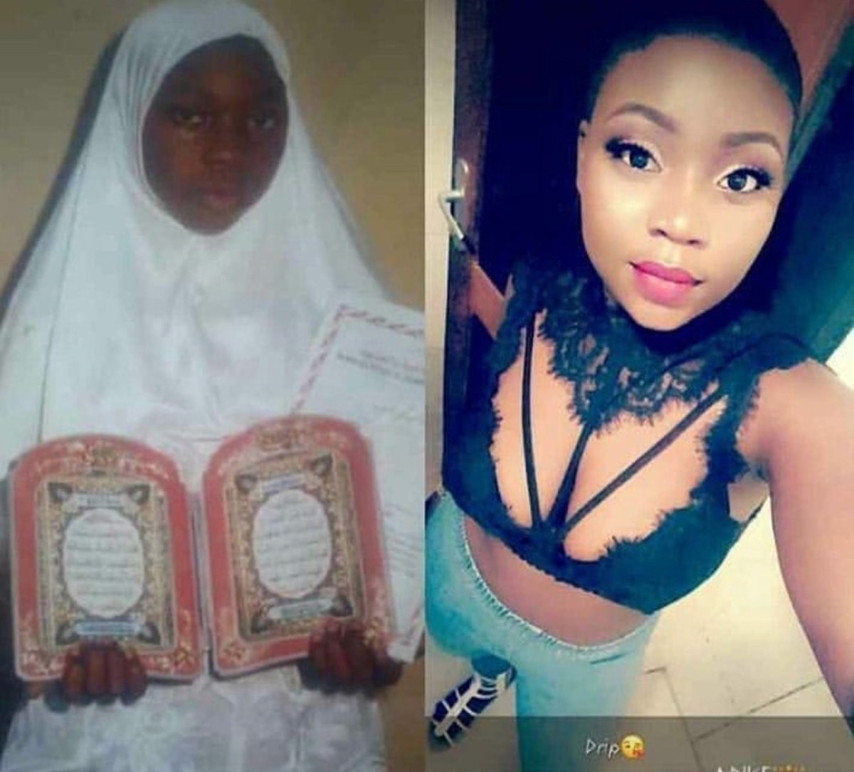 #10YearsChallenge - Hijab-Wearing Muslim Ladies Shock Online Users [Photos]