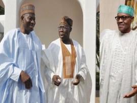 Buhari, Obasanjo, Jonathan, in closed door meeting in Aso Rock