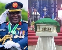 Photos from the Funeral of former AirForce chief, Alex Badeh
