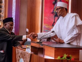 President Buhari speaks on why he suspended Justice Walter Onnoghen