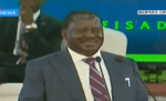 Must Watch: Former Kenyan Prime Minister, Ralia Odinga, Uses Nigeria To Crack Corruption Joke At A Summit