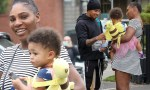 Serena Williams And Daughter Alexis Meet Lewis Hamilton While Shopping At Beverly Hills [Photos]