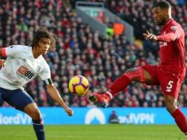 Wijnaldum used the outside of his right foot to score a sublime lob