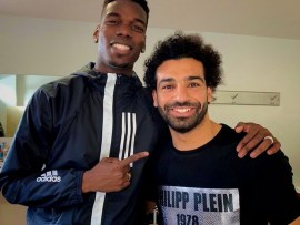 Paul Pogba hangs out with African best footballer Mohamed Salah?