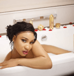 Tonto Dikeh Strips Down For A Photoshoot in A Bathtub