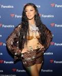 Photos: Cardi B in Gold Bra And Shorts At Fanatics Super Bowl Party in Atlanta