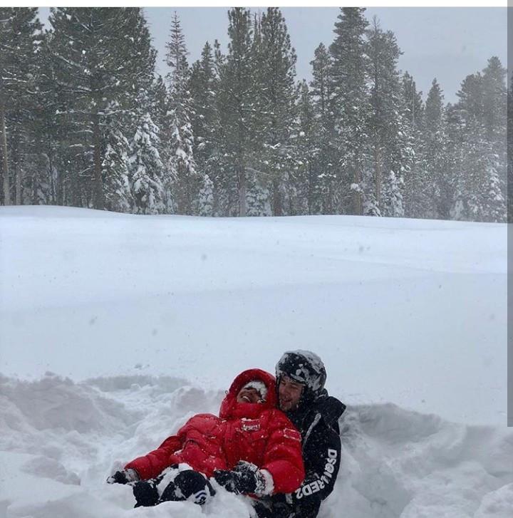 Newlyweds, Priyanka Chopra and Nick Jonas enjoy winter with their families