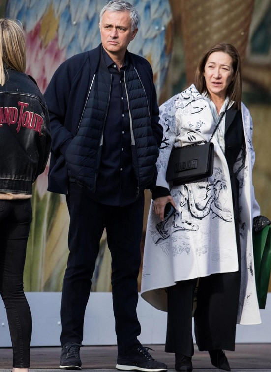 Jose Mourinho makes rare public outing with his wife after his