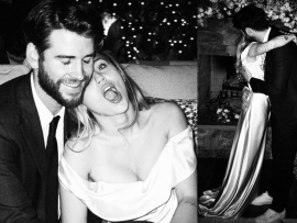 Miley Cyrus shares never-seen-before photos from her wedding to Liam Hemsworth on Happy Valentine