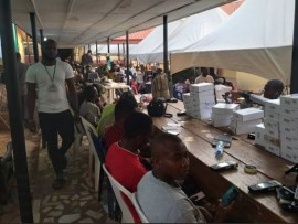 Photo:?INEC replaces burnt card readers for?14 LGAs In Anambra State