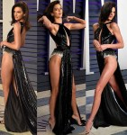 Kendall Jenner Goes Underwear-Free in Risky High-Cut Dress To Vanity Fair Oscar Party [Photos]