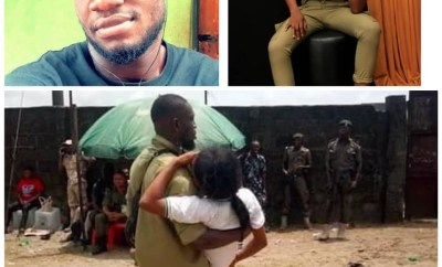 NYSC member thanks her colleague that saved her during the violence in Rivers last Saturday