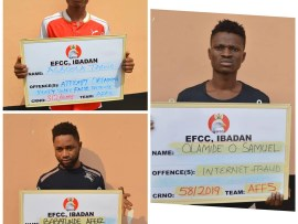 Photos: Three internet fraudsters arraigned in court