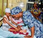 Photos: VP Yemi Osinbajo's Wife, Visits Children of Lagos Island Itafaji Building Collapse