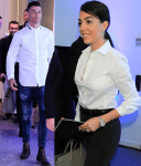 Cristiano Ronaldo And Girlfriend Georgina Rodriguez Attend The Opening of His Hair Transplant Clinic in Spain [Photos]