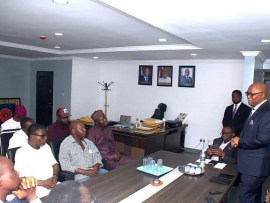 Photos: Baba Suwe meets Minister of Health, Prof Isaac Adewole