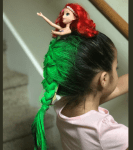 """Girl Wins School's """"Crazy Hair Day"""" After She Arrived in Little Mermaid Inspired Hair"""