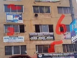 Photo of a building with 7 different churches in Anambra State goes viral