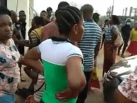 Chaos at Dunamis church as traders revolt after their goods were burnt down