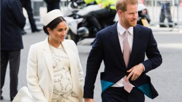 Prince Harry, Duke of Sussex and Meghan, Duchess of Sussex attend the Commonwealth Day service at Westminster Abbey on March 11, 2019
