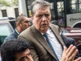 File image of former Peru president Alan García