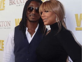 Tamar Braxton and her new Nigerian boyfriend David Adefeso make their red carpet debut at Braxton Family Values premiere (Photos)