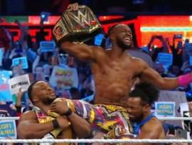 #Wrestlemania:?Kofi Kingston becomes?the first ever black man to emerge WWE champion