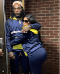 Loved-up Photo of Burna Boy And His Bae Stefflon Don Rocking Matching Tracksuits