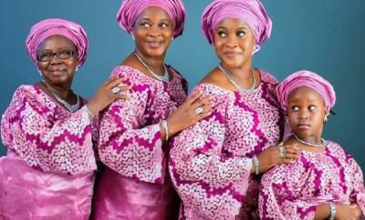Beautiful 4 generation photo of Nigerian family