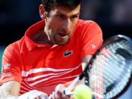 Novak Djokovic in semi-final action at the Italian Open