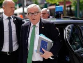 "President of the European Commission Jean-Claude Juncker arrives at a European People""s Party (EPP) meeting"