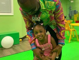 Photos:?Davido celebrates his?daughter