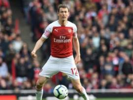 Stephan Lichtsteiner in action for Arsenal