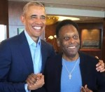 Obama Meets Football Legend, Pele in Sao Paulo, Brazil