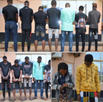 Photos: Nine Suspected Fraudsters Arrested And Paraded in Oyo