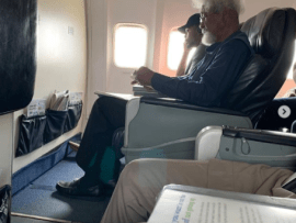 Unusual encounter between Wole Soyinka and a plane passenger leads to debate