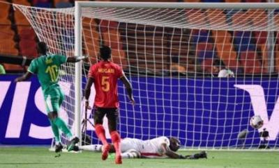 Sadio Mane scores for Senegal against Uganda at the Africa Cup of Nations