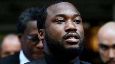 Meek Mill leaving court on 16 July 2019