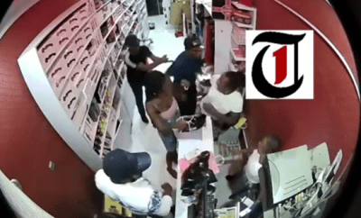 Senator Elisha Abbo caught on camera assaulting a woman at sex toy shop in Abuja (video)