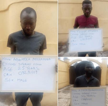 Three Yahoo Yahoo boys bag jail terms in Ilorin