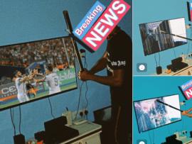 AFCON: Nigerian man destroys his TV after Nigeria lost to Algeria