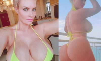 Reality star Coco Austin flaunts her assets in tiny bikini (Photos)